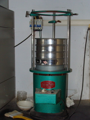 Electric sieve shaker test